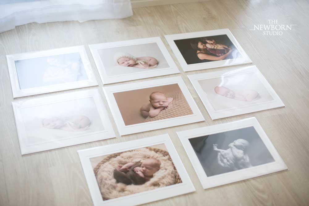 newborn photographer matted prints