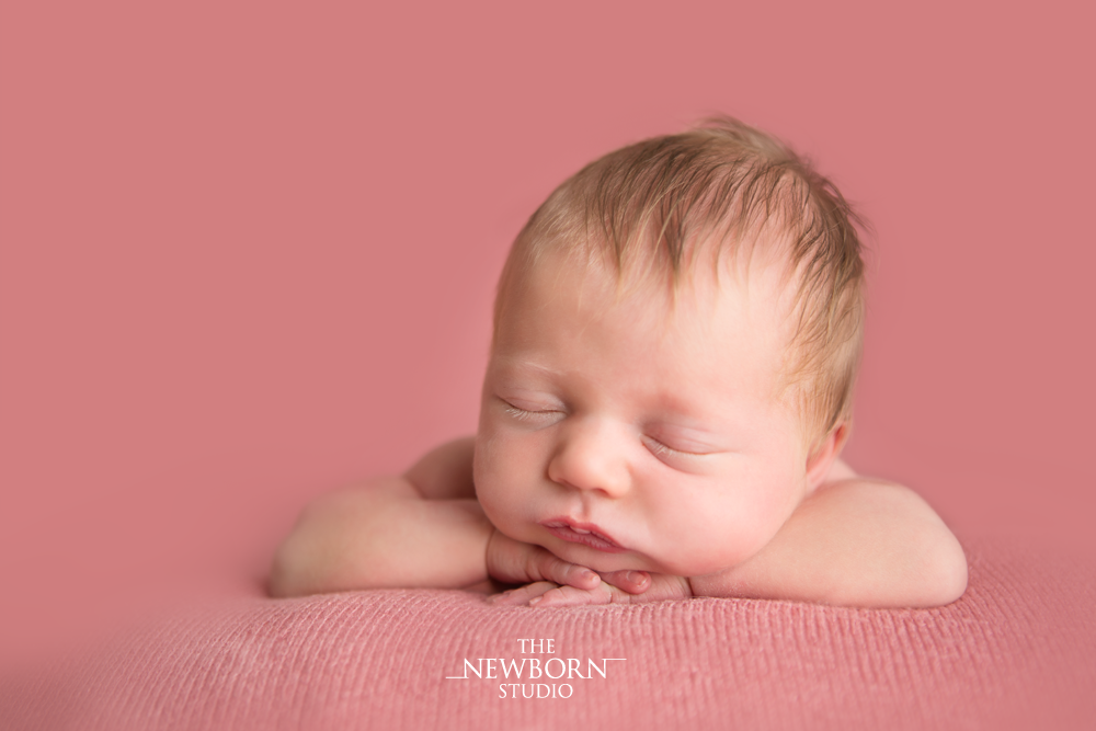 newborn baby girl studio photo