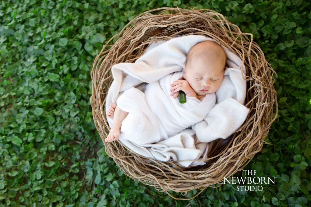 outdoor newborn photos
