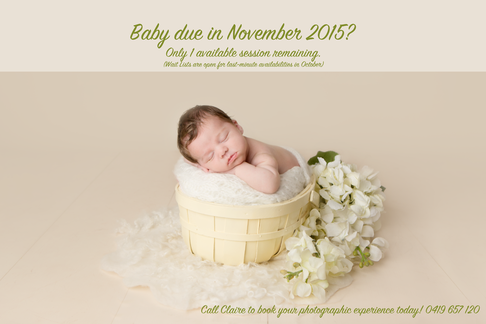 newborn booking november 2015