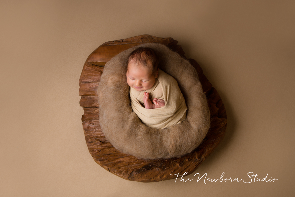 baby boy brown wood studio
