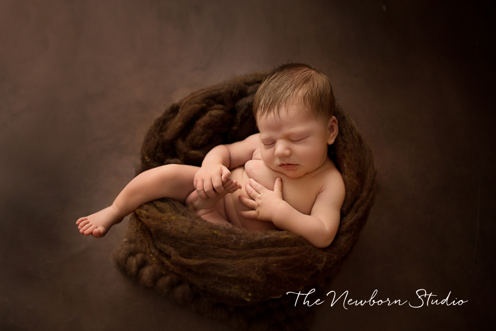 newborn baby photos boy brown