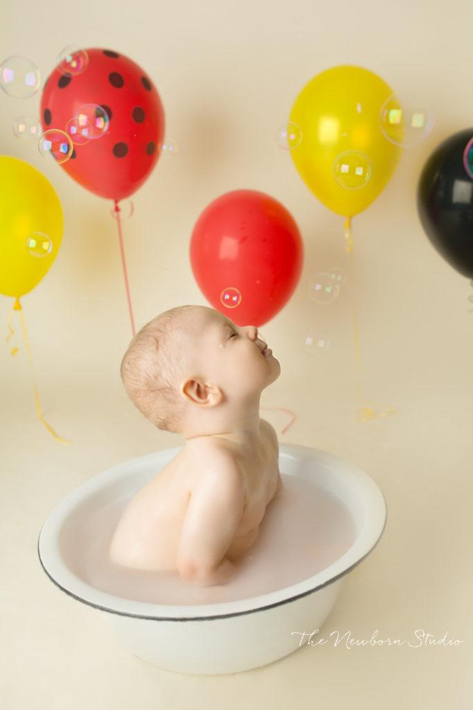 bubble bath mickey mouse boy