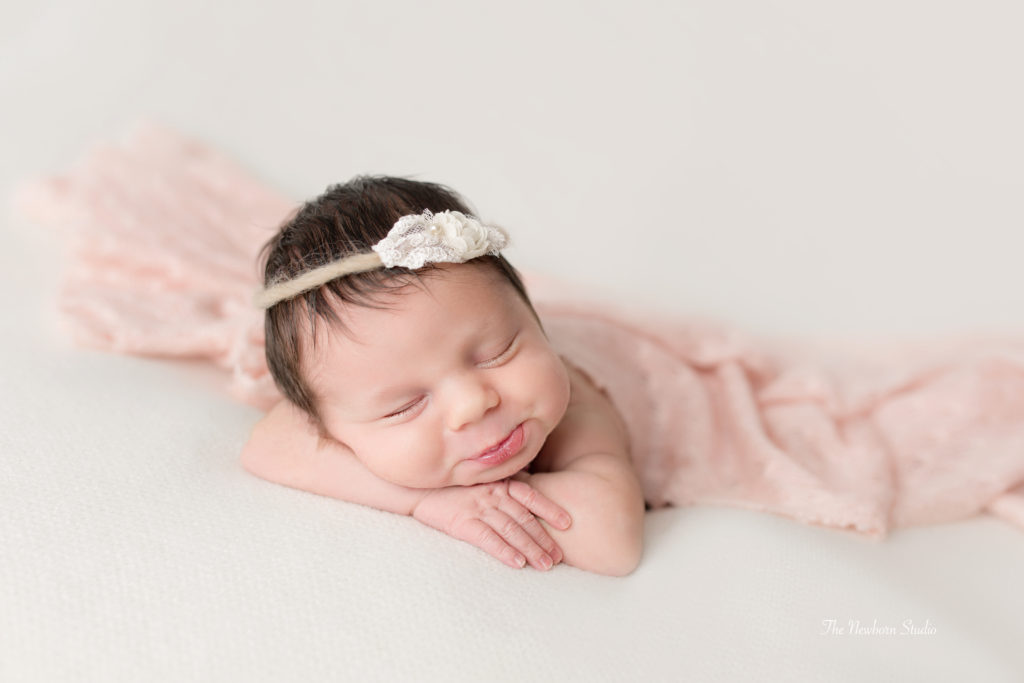 baby girl newborn beanbag
