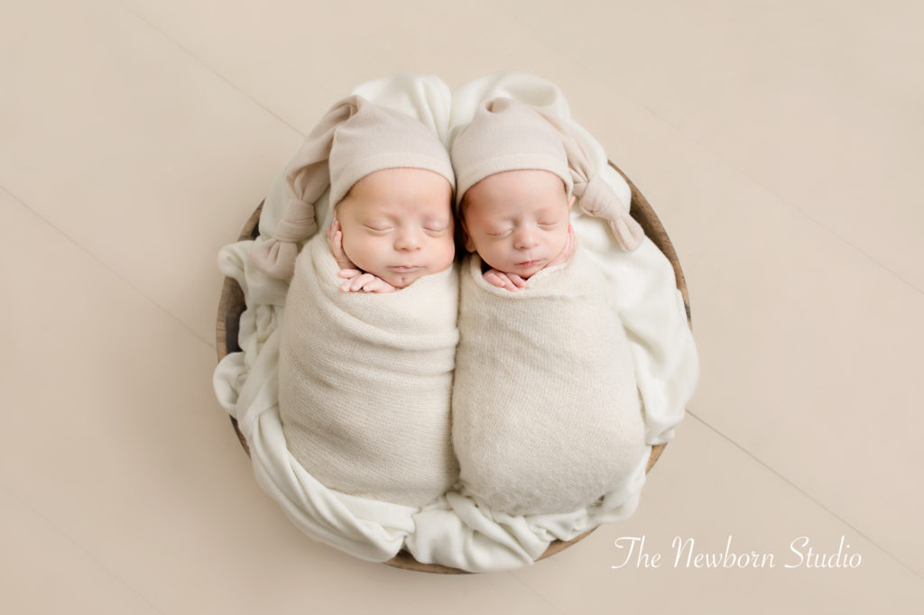 twin baby boys neutral cream