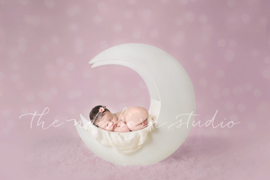 newborn digital moon background
