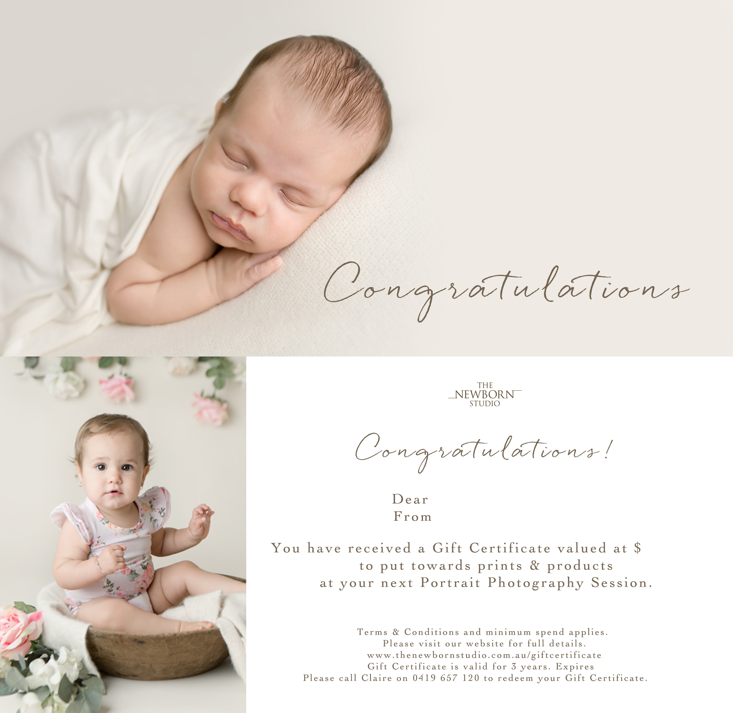 gift certificate photographer brisbane