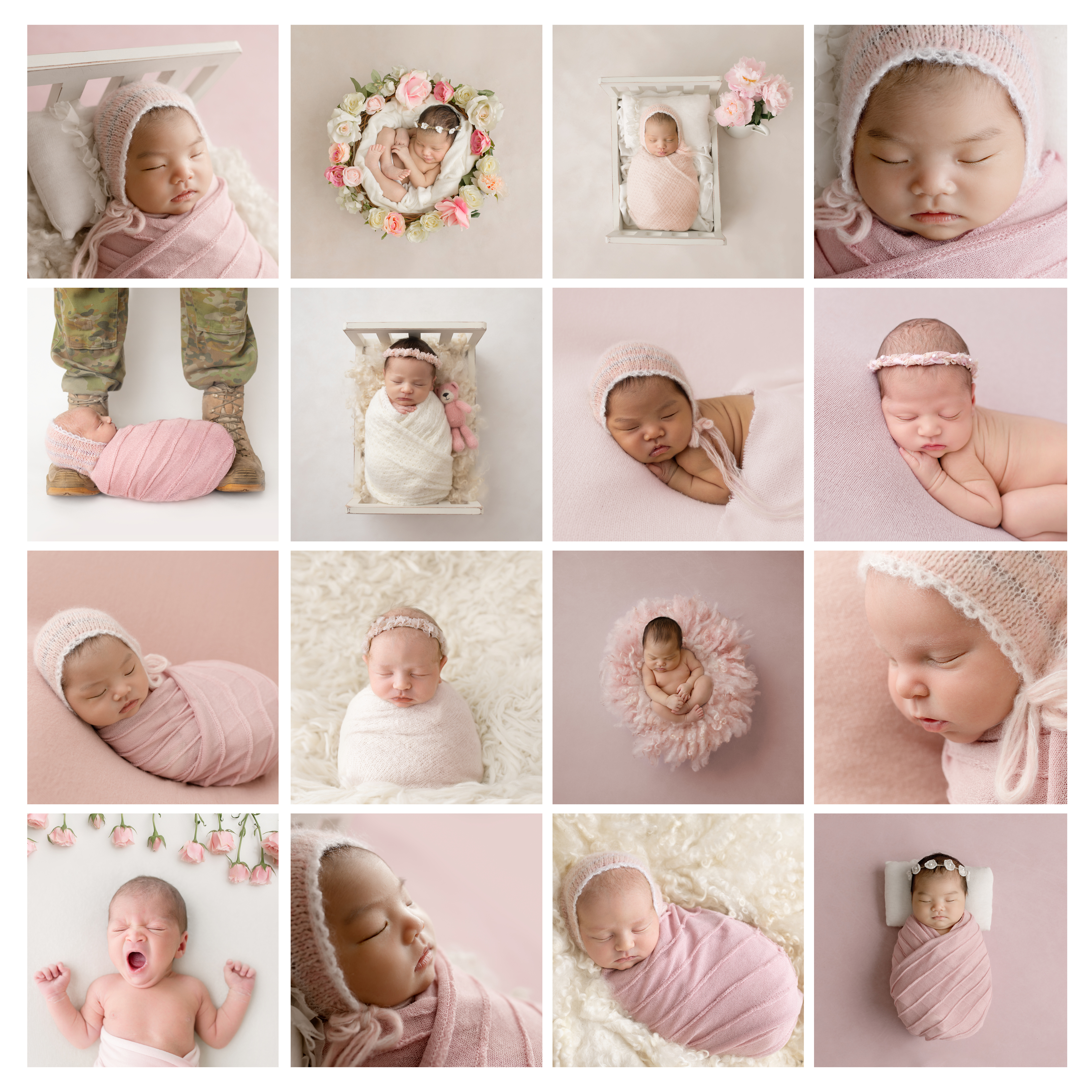 newborn session pink