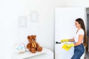 cleaning baby's nursery