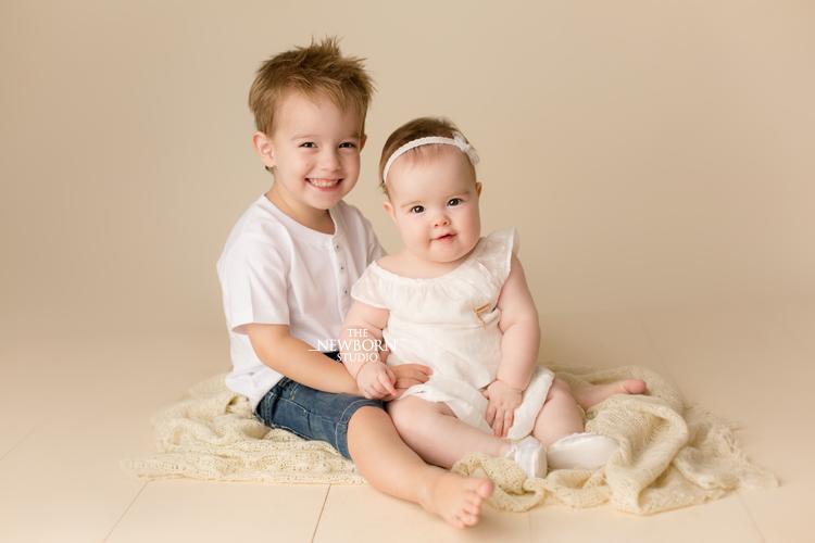 baby newborn brother sister photography brisbane