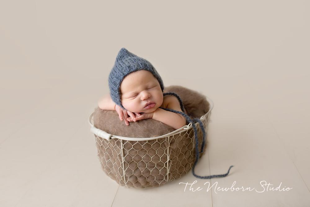 newborn baby boy basket