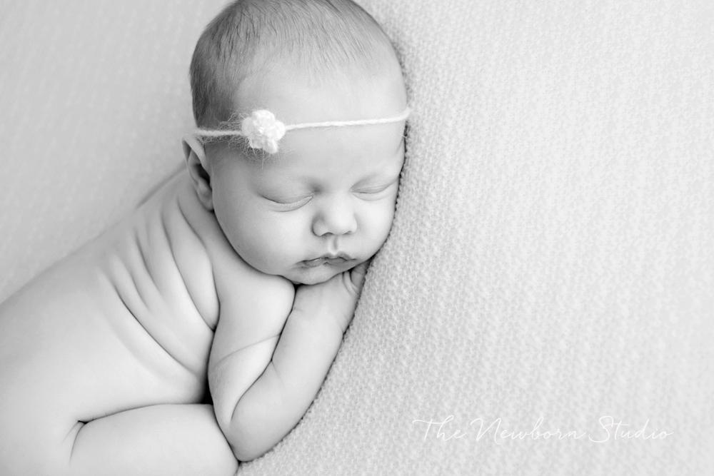 baby girl newborn black white