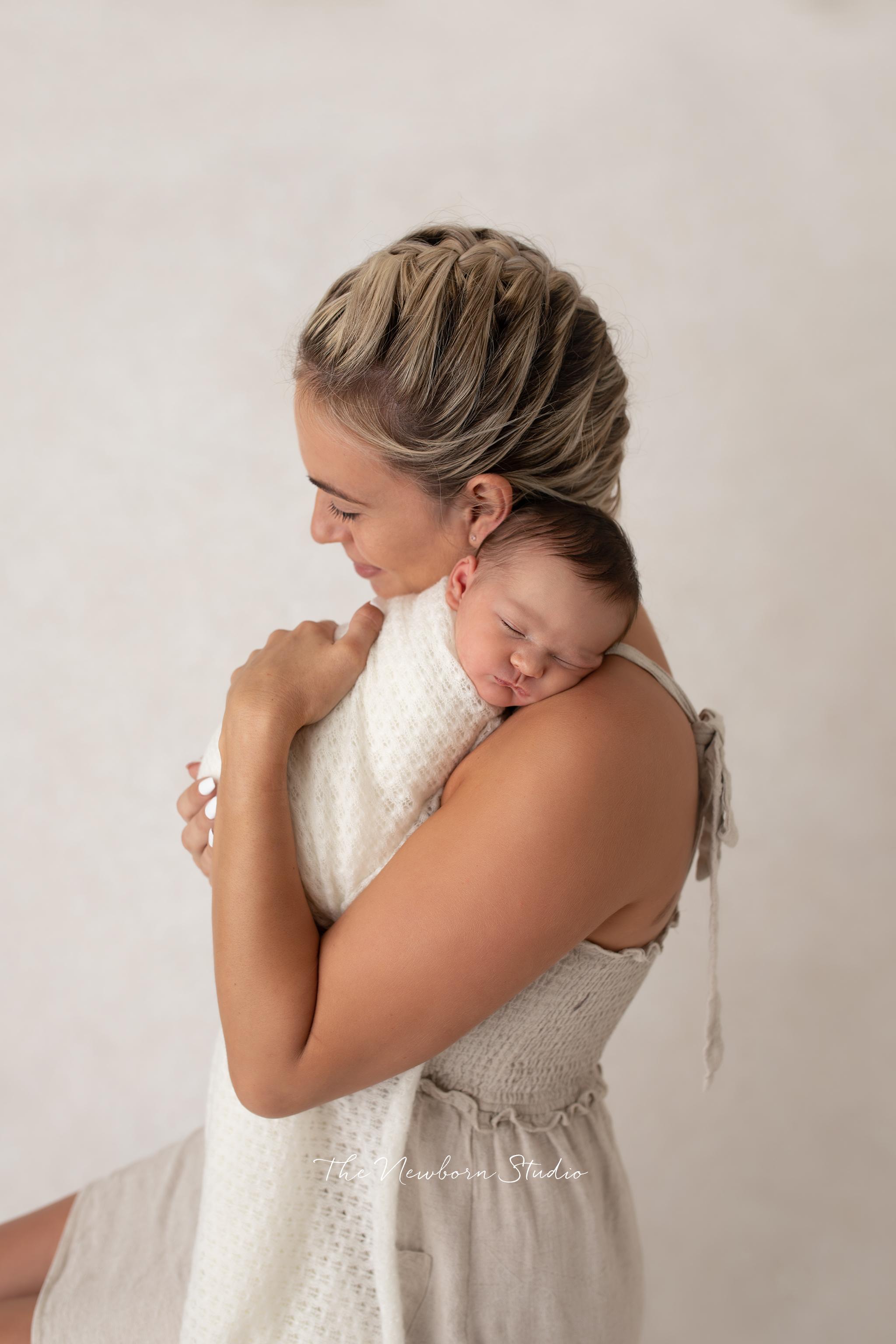 newborn baby girl and mum